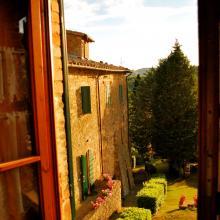 La vista dall'edificio